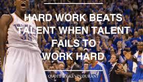 KD hard work
